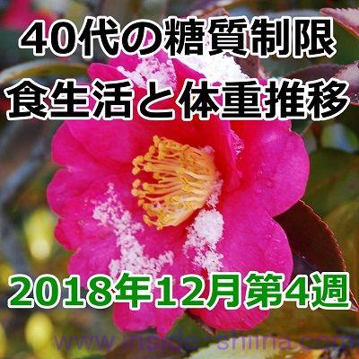 40代の糖質制限2018年12月第4週