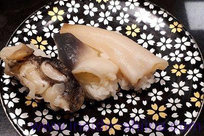 回転寿司貝盛り三貫