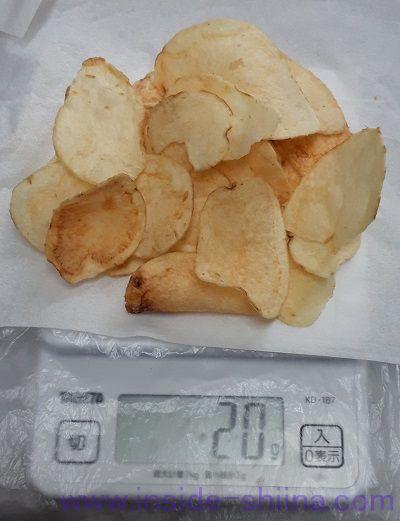 フラ印アメリカンポテトチップスうす塩味見た目