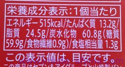 カマンベールチーズスフレ栄養成分表示