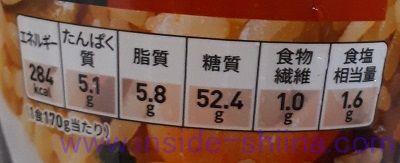 セブン バター香る海老ピラフ栄養成分表示