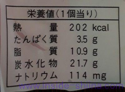 いちごシュー~果肉&練乳入り~栄養成分表示