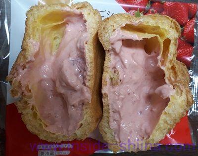 いちごシュー~果肉&練乳入り~中身