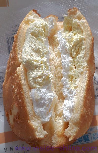 ダブルクリームサンド(チーズクリーム&ホイップ)中身