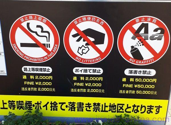 つくば駅周り路上喫煙、ポイ捨て、落書き禁止地区