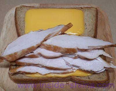 業務スーパー スモークチキンスライスサンドイッチ1