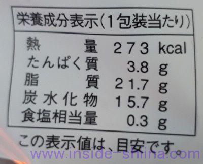 レアチーズパイシューストロベリー栄養成分表示