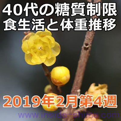 40代の糖質制限2019年2月第4週