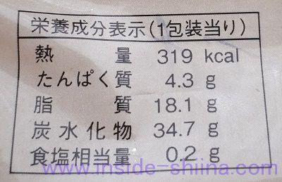 バウムクーヘン(ファミマ)栄養成分表示