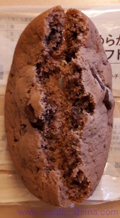 ローソン マチカフェ なめらかチョコのソフトクッキー中身