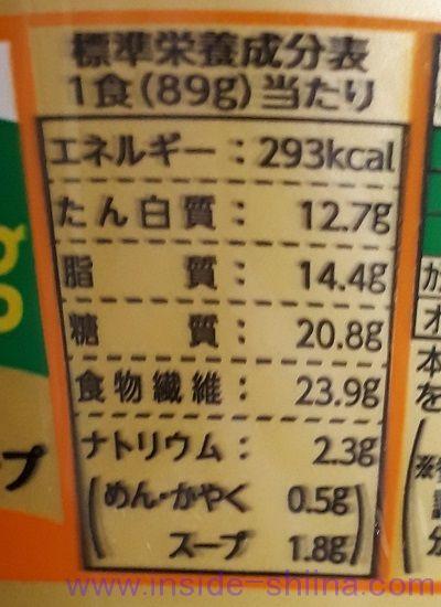 明星 低糖質麺はじめ屋こってり味噌味栄養成分表示