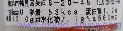 野菜スティック味噌マヨ(ファミマ)栄養成分表示