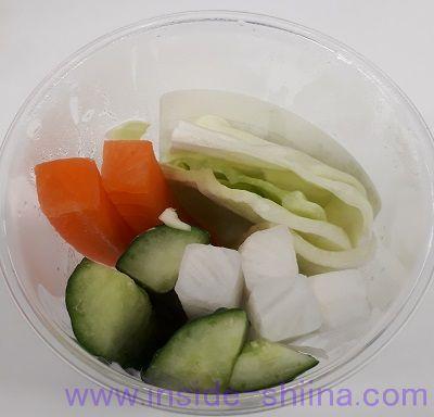 野菜スティック味噌マヨ(ファミマ)見た目