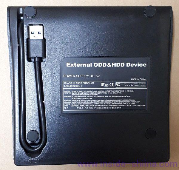 Cocopa USB 3.0 外付け DVD プレイヤー ポータブルドライブ 裏