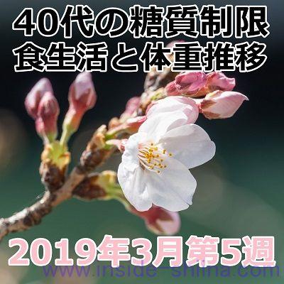 40代の糖質制限2019年3月第5週