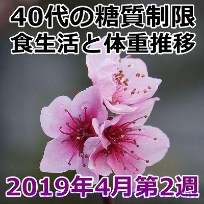 40代の糖質制限2019年4月第2週