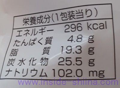 たっぷりクリームのダブルシュー栄養成分表示