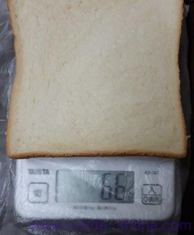 食パン6枚切り1枚の重量