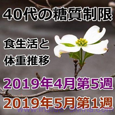 40代の糖質制限2019年4月第5週