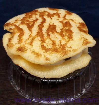 北海道十勝産小豆とクリームの生とら焼き見た目
