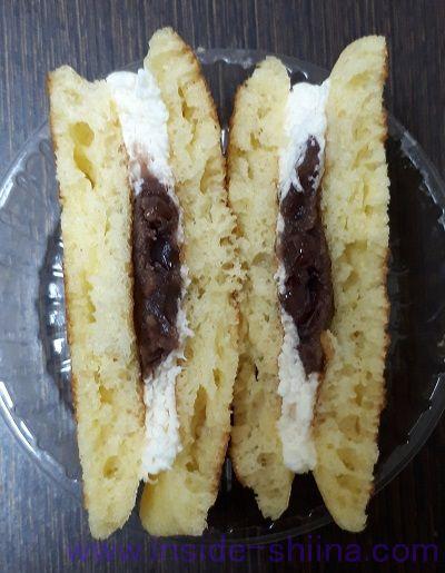 北海道十勝産小豆とクリームの生とら焼き中身