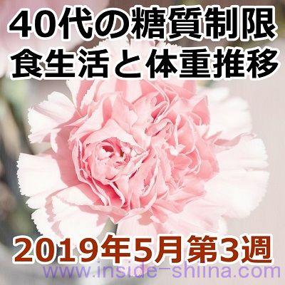 40代の糖質制限2019年5月第3週