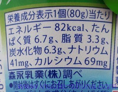 パルテノアサイーミックスソース入栄養成分表示
