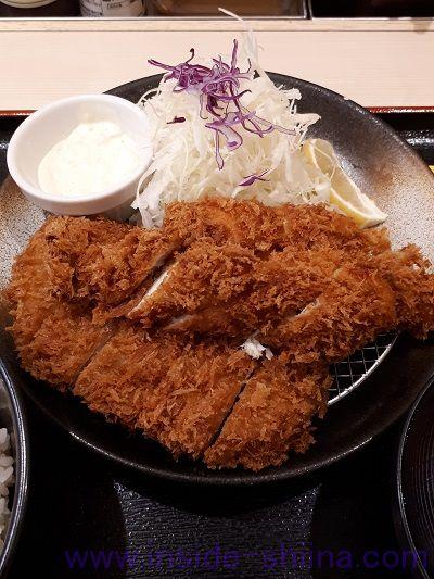ロースかつ&ささみかつ(2枚)定食(税込830円)