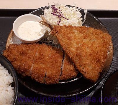 ロースかつ&アジフライ定食(税込780円)