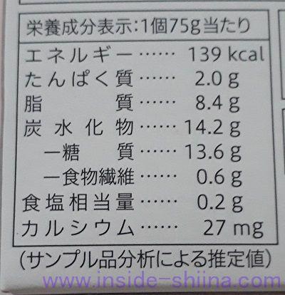 レアチーズデザートストロベリー(セブン)栄養成分表示