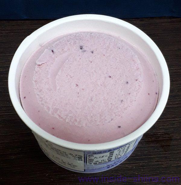 北海道乳蔵アイスクリーム ハスカップの見た目