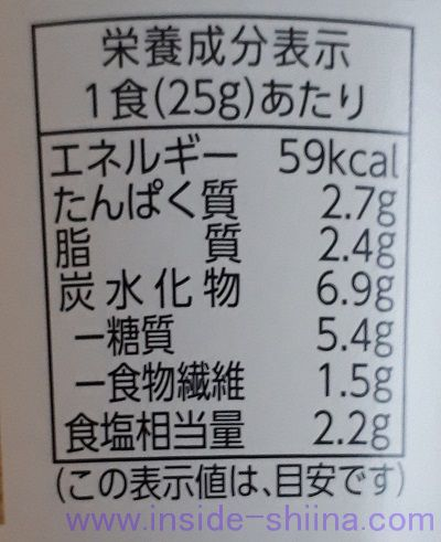 ごろっと揚げなすお味噌汁(ファミマ)栄養成分表示
