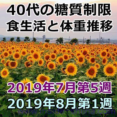 40代の糖質制限2019年8月第1週