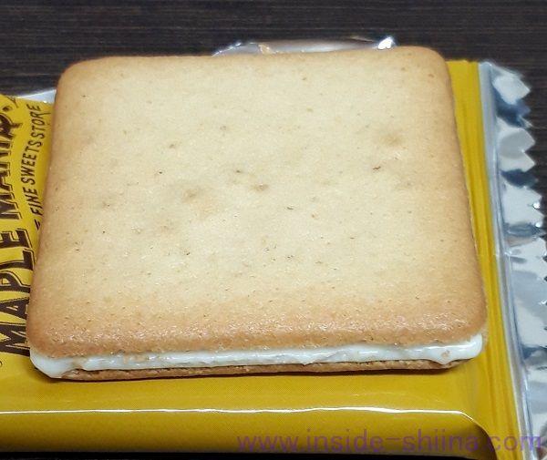 メープルマニアのメープルバタークッキーの見た目