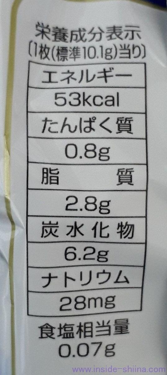 アルフォート 1枚当り カロリー 糖質