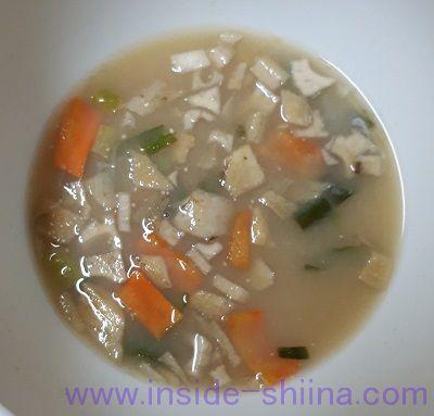 減塩いつものおみそ汁根菜(アマノフーズ) 見た目