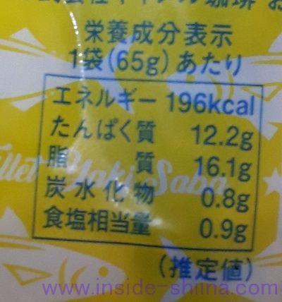 フィレ焼きさば(カルディ) カロリー 糖質