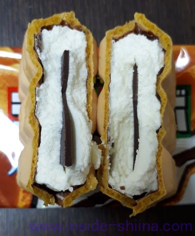 チョコモナカジャンボ(森永製菓)板チョコ