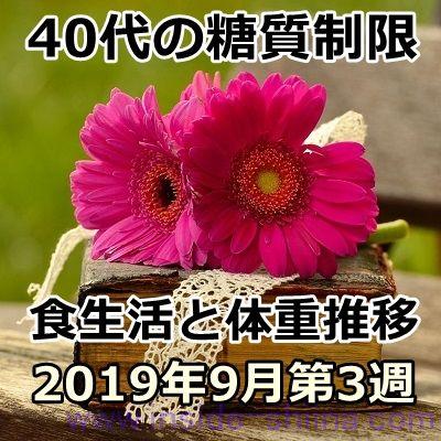 40代の糖質制限2019年9月第3週