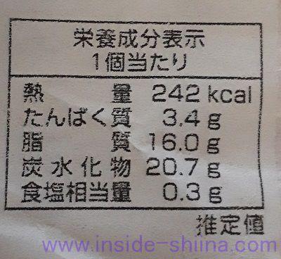 岡山 生クリームぱん(清水屋) カロリー 糖質