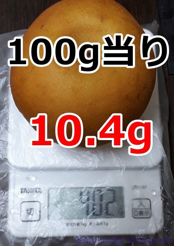 梨 1個 糖質