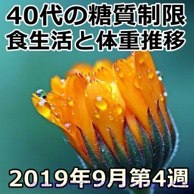 40代の糖質制限2019年9月第4週