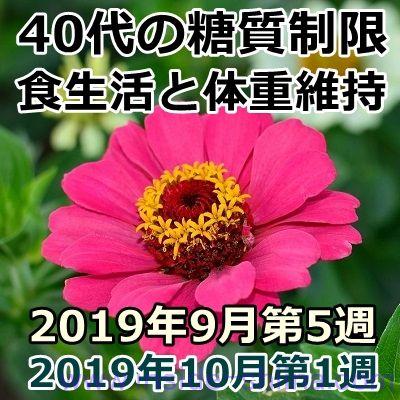 40代の糖質制限2019年9月第5週