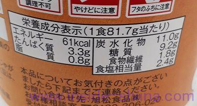 ごろごろ野菜のおみそ汁(ローソン) カロリー 糖質