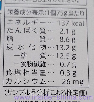 レアチーズデザートシチリアレモン(セブン) カロリー 糖質