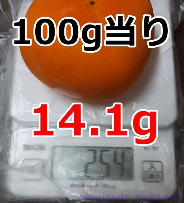 種無し柿1個の糖質は!