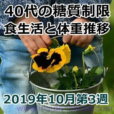 40代の糖質制限2019年10月第3週