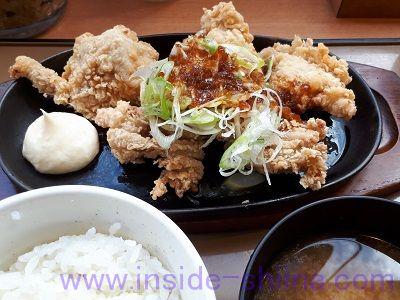 やみつき油淋鶏定食(やよい軒)