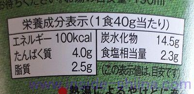 1食分の野菜が摂れるおみそ汁(ローソン) カロリー 糖質