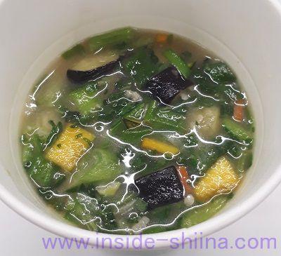 1食分の野菜が摂れるおみそ汁(ローソン) 見た目